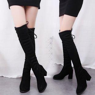 秋冬季靴保暖加绒过膝长靴长筒靴