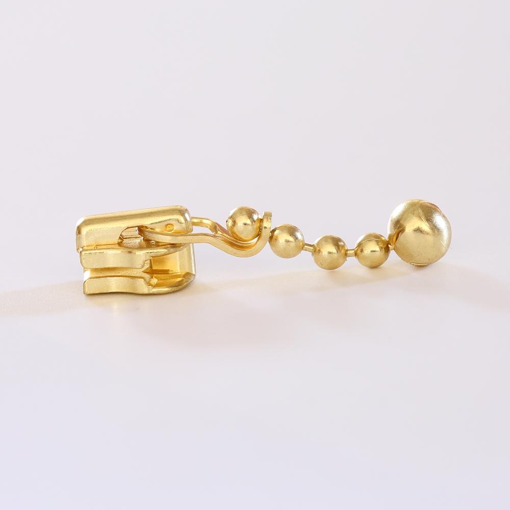 正品YKK 3号金属自锁拉头金铜色3M DABL码装拉链拉锁包包配件