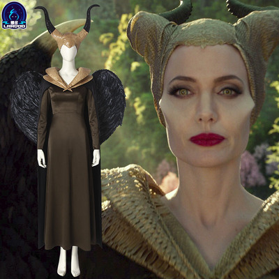 taobao agent Naduo Maleficent 2 Film and Television Same Paragraph Marlene Fissen Cos Suit One-Piece One-piece Headdress Female Full Set Clothing
