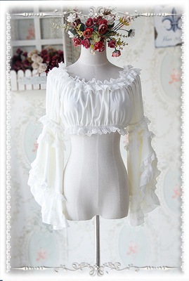 42agent [Infanta. Baby Vatican] Lolita detachable Ji-series sleeves chiffon tube top code multi-color into - Taobao