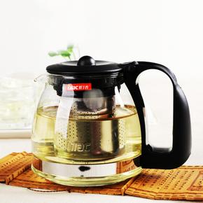 耐热玻璃茶壶不锈钢过滤泡茶器