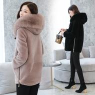 Cừu xén lông nữ mới 2018 Hàn Quốc phiên bản của đoạn ngắn fox fur collar trùm đầu lông một Haining áo khoác lông thú