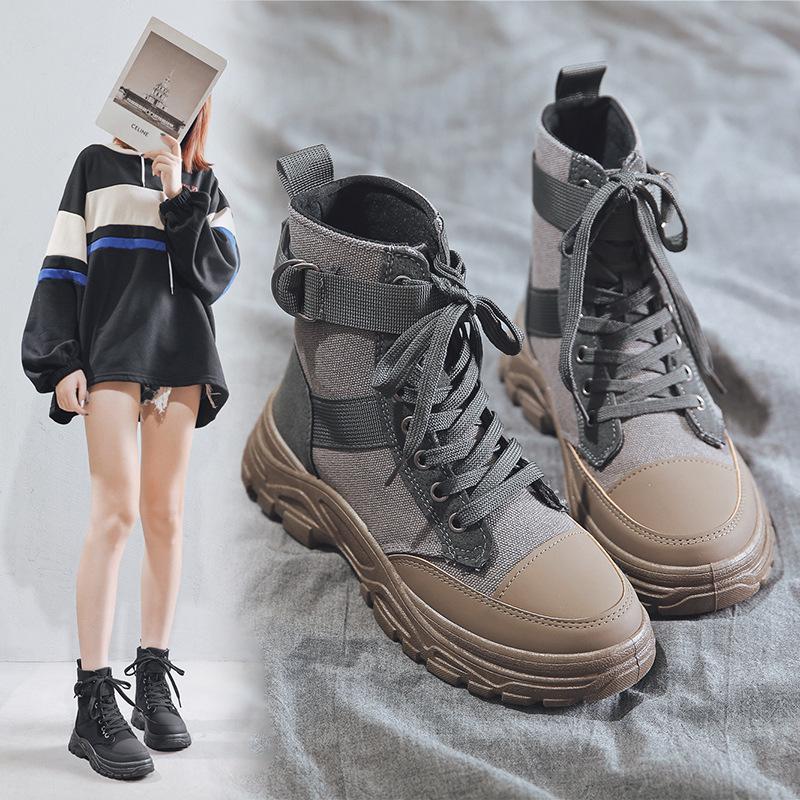 2020秋季新款马丁靴男高帮英伦男鞋复古百搭沙漠靴厚底潮流男靴子