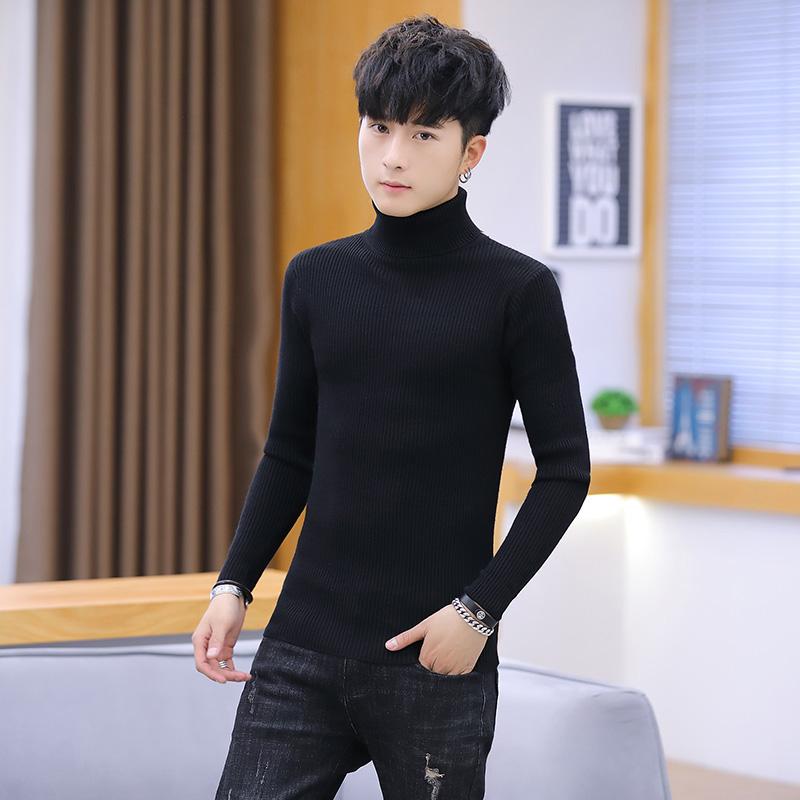 祖玛珑2018新款男士毛衣韩版ins个性针织衫圆领条纹长袖t恤上衣