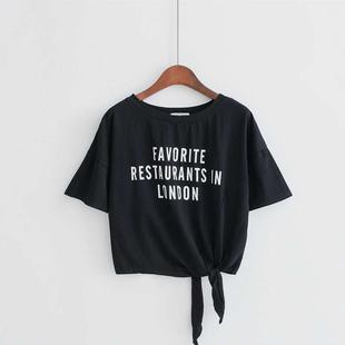 夏季新款韩版学院风短款短袖t恤女学生宽松