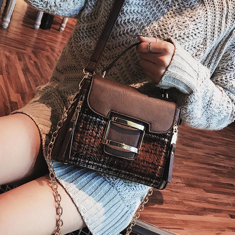 大包包女2017新款潮链条百搭韩版冬季大气手提简约时尚容量斜挎包
