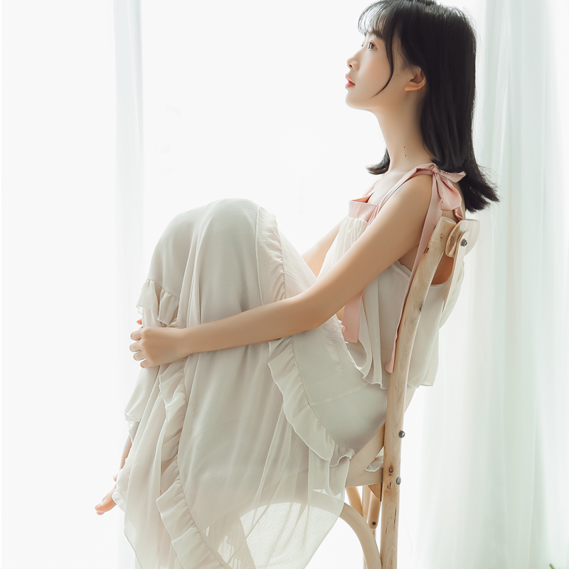 6199#定价不低于95视频大图都有【现货实拍】烫金雪纺连衣裙