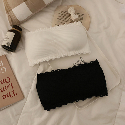 taobao agent Strapless women's tube top spring and summer 2021 new style small chest gathered underwear, anti-fade underwear, beautiful back wrap chest