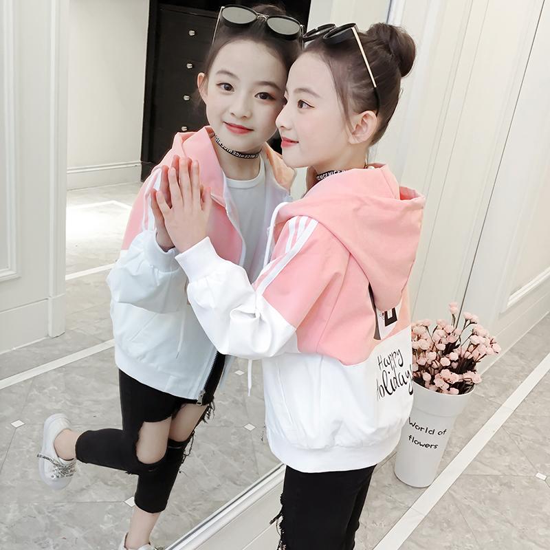 童装女童2019新款韩版洋气夹克外套潮衣热销82件不包邮