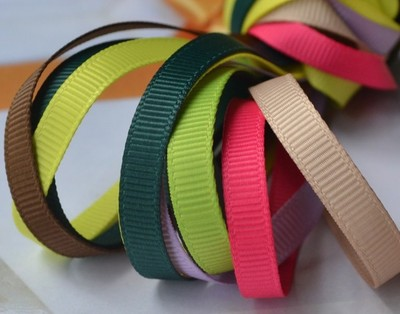 taobao agent Baby clothing accessories 6mm solid color polyester ribbed ribbon price per meter