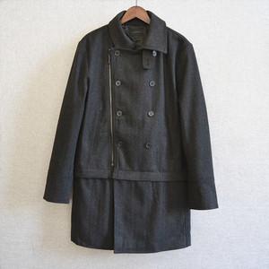 Áo khoác lông dài có thể tháo rời của đàn ông B10