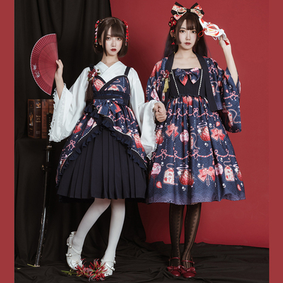 taobao agent Original design and style strawberry haori retro lolita dress genuine jsk daily cabbage price dress