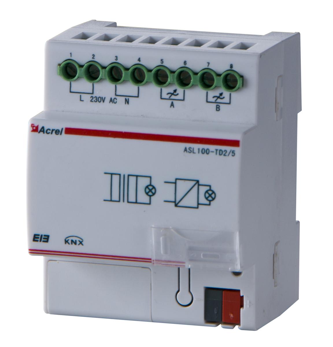 智能照明可控硅调光器 ASL100-TD2-5 2路调光器 进行回路开关控制