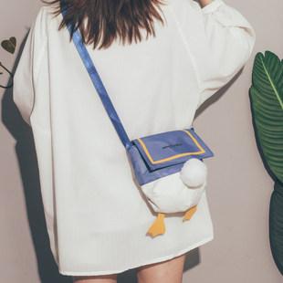 Утка пердеть пердеть мешки 2021 новый волна японский юань газ девушка холст сумка милый смешной студент сумку