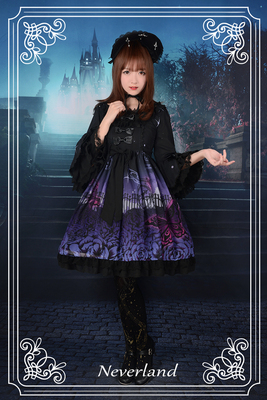 taobao agent 【Have a time limit】Soufflesong exclusive design【Butterfly Cemetery】Small high waist dress with sleeves op