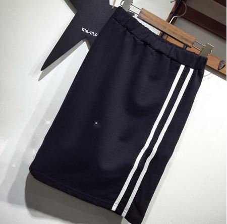 韩版修身显瘦半身裙2019夏季新款直筒裙中长裙大码包臀裙休闲吸汗