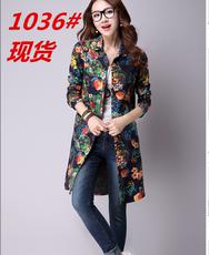 2016年秋季新款女式加厚棉麻衬衫韩版文艺宽松大码打底衫衬衣上衣
