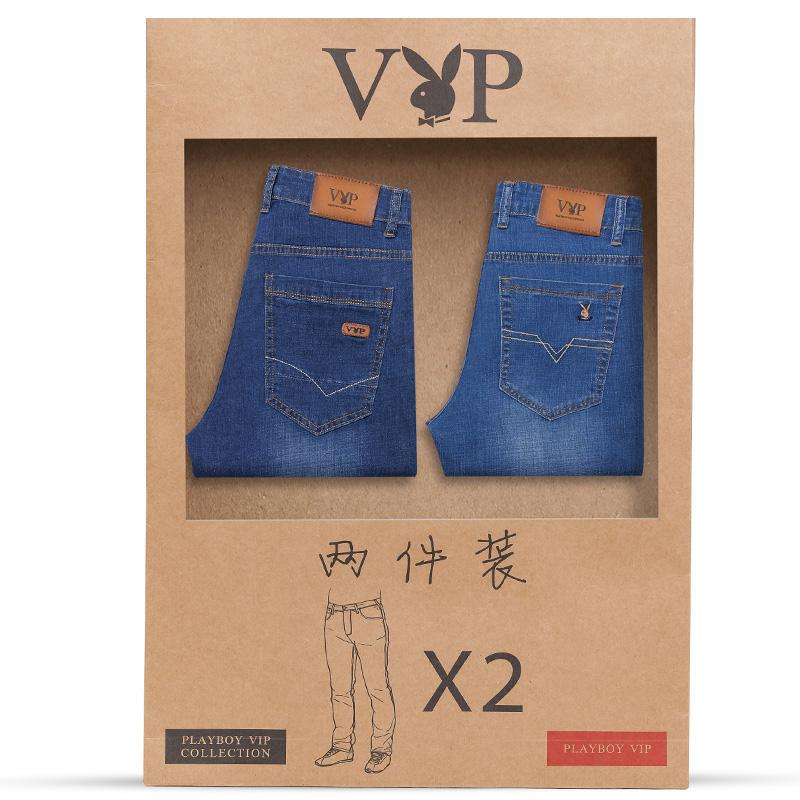 Playboy nam quần jean mùa hè mỏng thẳng mỏng căng quần thanh niên mỏng thường quần dài người đàn ông