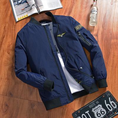 NIAN JEEP áo khoác nam mùa xuân và mùa thu thường thanh niên pilot men của mùa thu coat kích thước lớn đồng phục bóng chày phần mỏng Đồng phục bóng chày