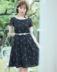 Qianjin Gui P 18 mùa hè hè một làn gió hoa thêu sọc eo đầm với vành đai váy đầm