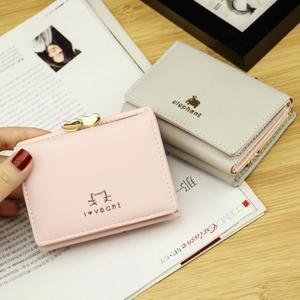Ví nữ phần ngắn Hàn Quốc phiên bản của sinh viên đơn giản ví nhỏ tình yêu Jinji nhỏ ví mới nữ ví nữ