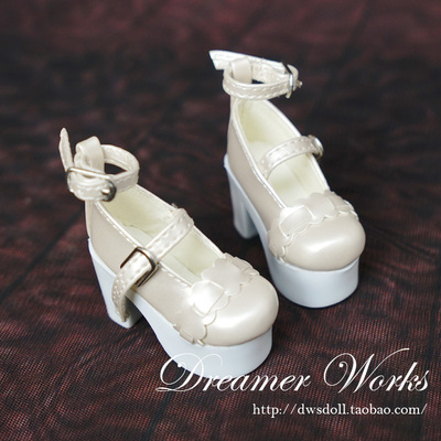 taobao agent SD BJD 4 points 3 points doll shoes lace princess high heels 1/4 1/3 giant baby apricot gold