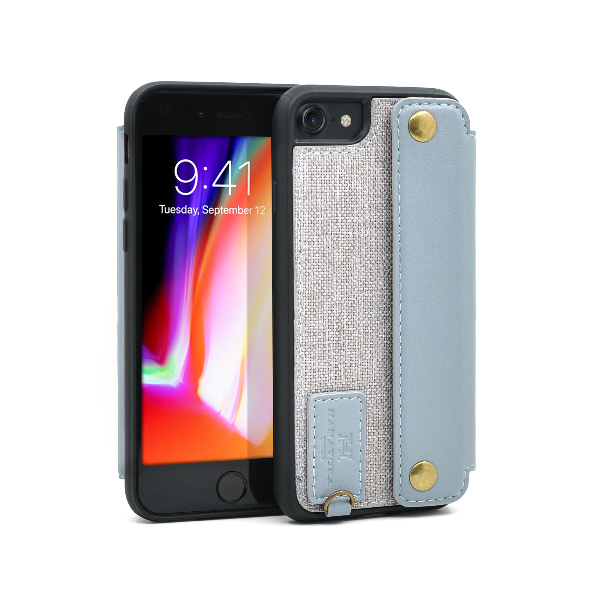 日本花虎iPhone7手机壳个性创意苹果8plus新款插卡皮套潮牌男女款