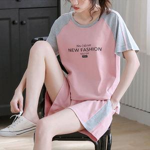 女士韩版短袖短裤套装休闲两件套运动装女装