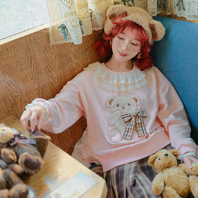 taobao agent 【Spot goods】December warm and shining warm and warm Lolita childlike harbor sweater sweet and cute top dress