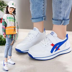 韩版童鞋春秋男童白色运动鞋儿童休闲鞋女童小白鞋学生鞋子防滑鞋