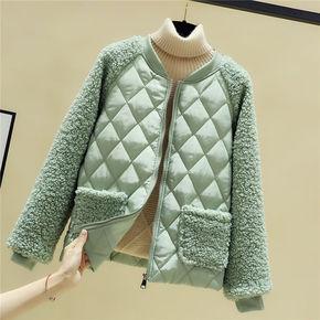 新款韩版仿羊羔毛轻薄短款外套