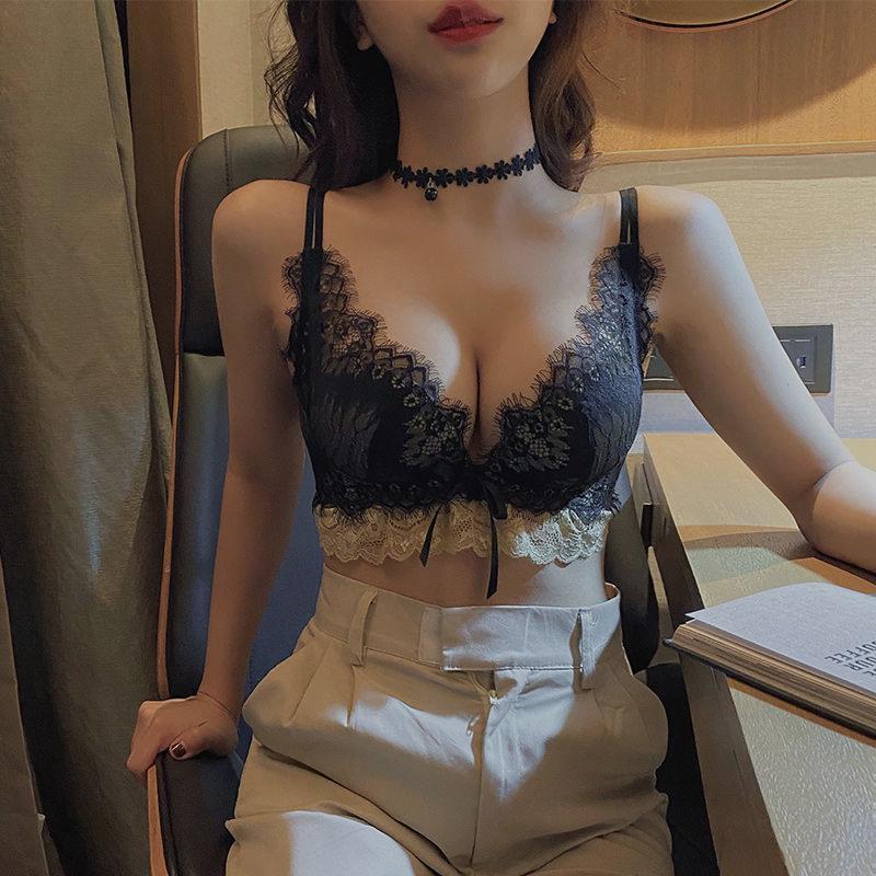 女士聚拢内衣内裤无钢圈文胸少女蕾丝胸罩