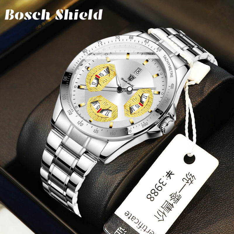 新款非机械瑞士全自动机芯时尚商务镂空超薄钢带男士手表防水夜光