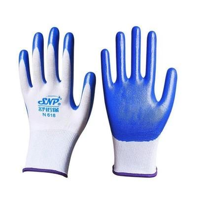耐磨劳保手套防护建筑工地胶皮橡胶工作涂胶男女劳动浸胶手套