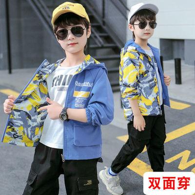 男童外套秋装2021年新款中大儿童秋季韩版男孩春秋款洋气冲锋衣潮