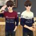 Mùa hè đội mũ trùm đầu ngắn tay T-Shirt nam thiếu niên 13 junior học sinh trung học xu hướng đẹp trai 15 tuổi cậu bé áo len mỏng Áo len
