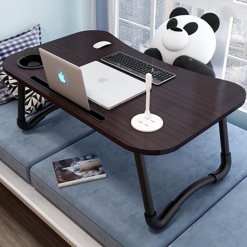 床上小桌子卧室折□ 叠书桌学生网课电脑桌宿⌒舍简易多功能学习桌子