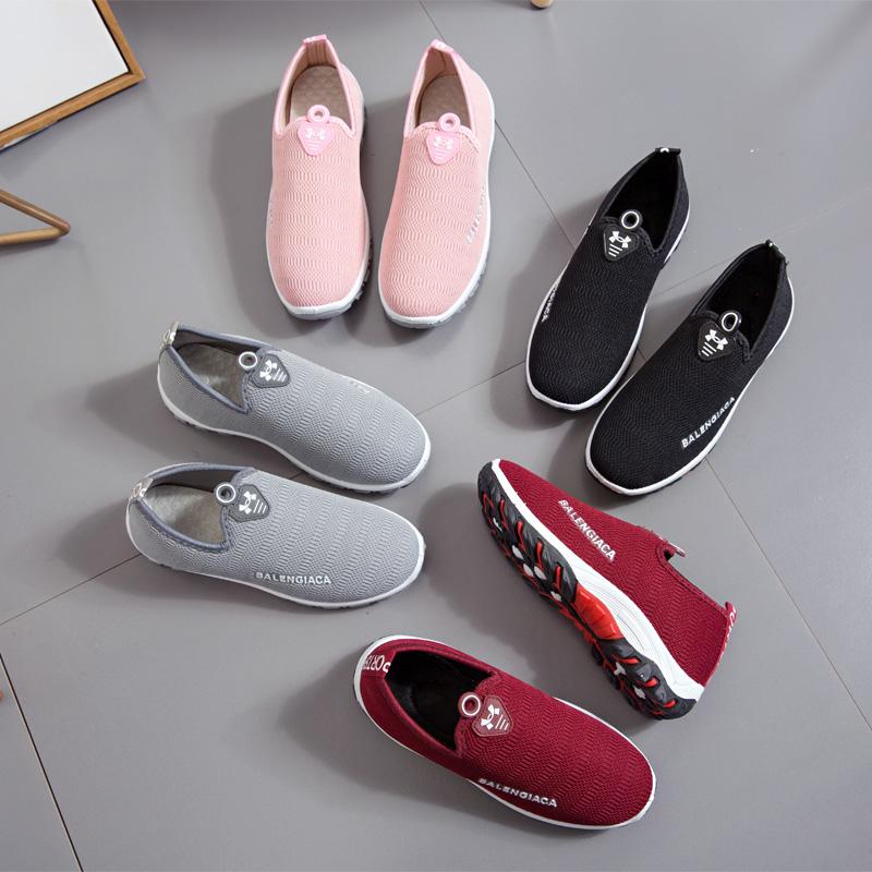 2018 mùa xuân giày thể thao tuổi Bắc Kinh giày vải giày của phụ nữ đi bộ đường dài giản dị giày thể thao ngoài trời giày phẳng thấp để giúp mềm giày sinh viên