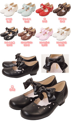 taobao agent Japanese genuine BL multicolor patent leather soft girl low heel lolita princess shoes