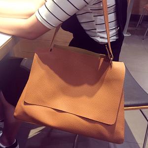 韩国东大门2017新款女包明星秀智同款单肩大包子母包简约手提包