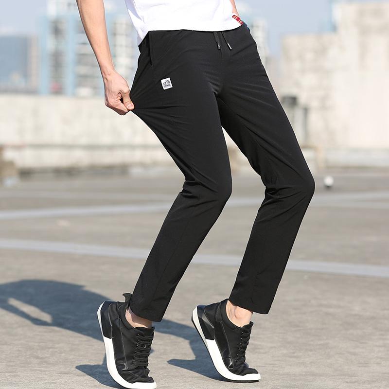 休闲裤男速干运动裤子九分裤夏装薄款
