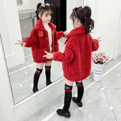 童装女童外套2020新款秋冬款儿童中大童冬装女孩洋气加绒加厚外衣