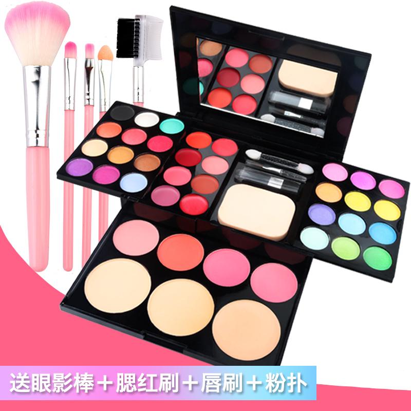 Trang Điểm chính hãng Hộp Bột Trang Điểm Pan 39 Màu Full Set Kết Hợp Trẻ Em Giai Đoạn Trang Điểm Hiển Thị Blush Trân Eyeshadow