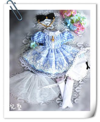 taobao agent Spot 2 sets of shipping 4 points dress bjd doll clothes big 6 points 3 points Alice giant baby cloth holala