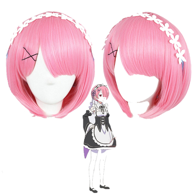 taobao agent Anime Zero-Starting Life in Another World Rem Ram Lam Maid Twin Cosplay Wig