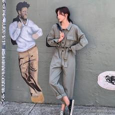 现货 8621-L1952-P95工装连体裤春装系带 帅帅的女生(限148元)