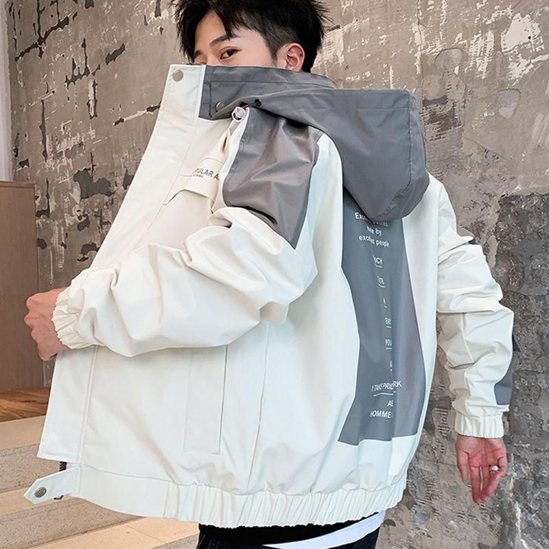 春秋季男士夹克外套韩版潮流工装学生帅气精神小伙褂子衣服男上衣