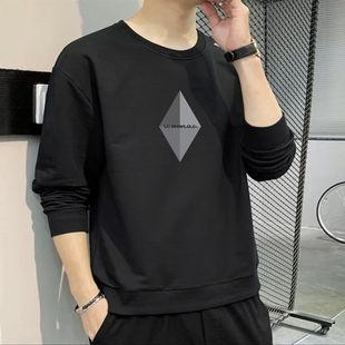 春秋季卫衣男T恤圆领套头宽松韩版