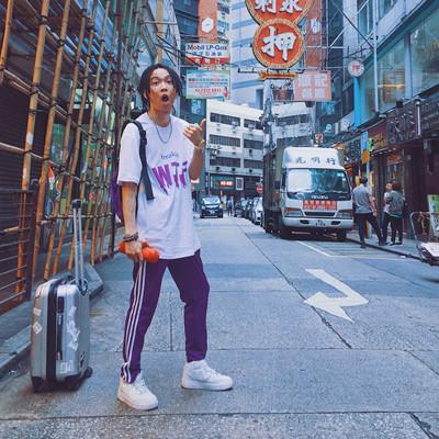 Mùa hè tím ba-bar thể thao quần nam đồng phục học sinh quần hip hop quần nam lỏng lẻo Châu Âu và Mỹ đường phố hiphop