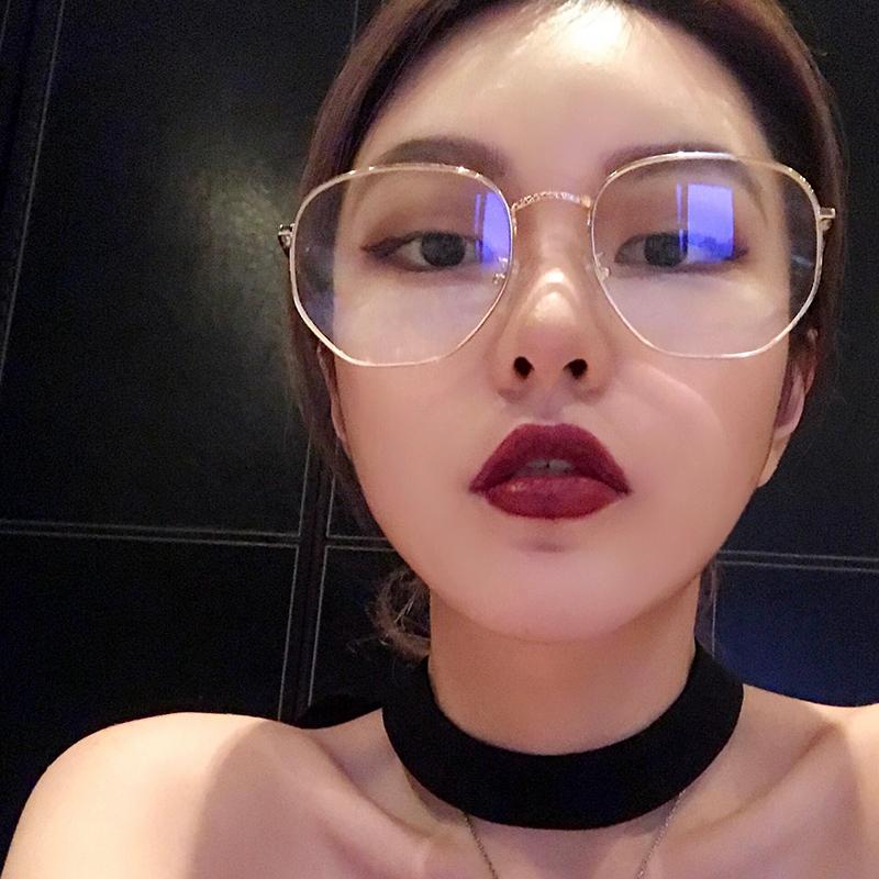 Chu Dương Khánh Luo Zhixiang cùng một đoạn gương phẳng mặt đồng bằng nam và nữ gầy gò mặt lớn gọng kính vuông - Kính
